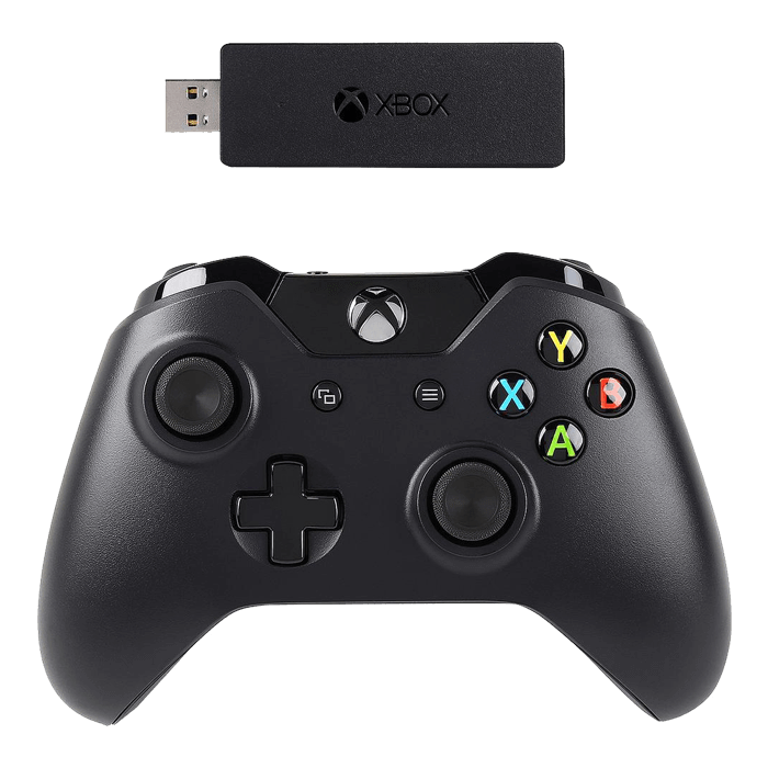 NG6-00001, Xbox One and PC, Wireless Adapter for Windows 10, Black, Retail  Joystick