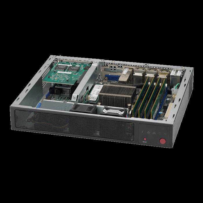 SuperChassis E300, No PSU, Flex-ATX Mini-ITX, Black, 1U Chassis