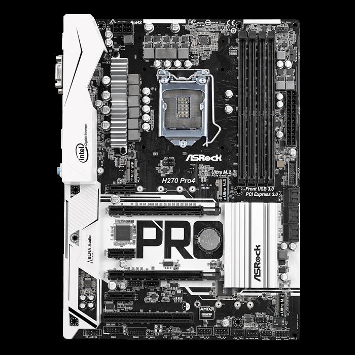 H270 Pro4, Intel H270 Chipset, LGA 1151, HDMI, ATX Motherboard