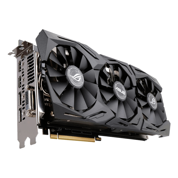 Radeon RX 580 ROG-STRIX-RX580-O8G-GAMING, 1360 - 1380MHz, 8GB GDDR5,  Graphics Card