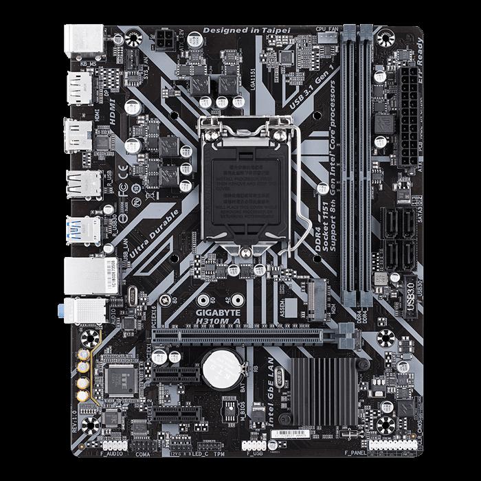 H310M A, Intel H310 Chipset, LGA 1151, HDMI, microATX Motherboard
