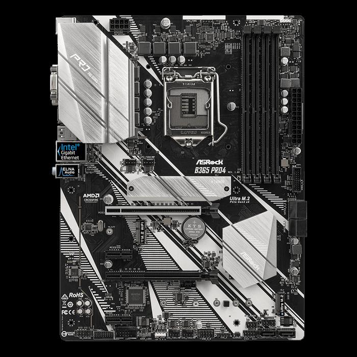 B365 Pro4, Intel B365 Chipset, LGA 1151, HDMI, ATX Motherboard
