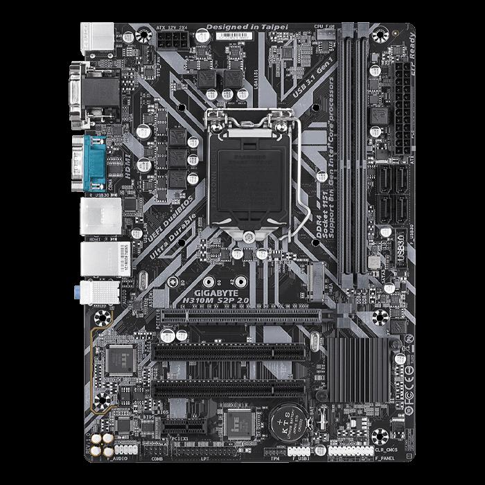 H310M S2P 2 0 (rev  1 0), Intel H310 Chipset, LGA 1151, HDMI, microATX  Motherboard