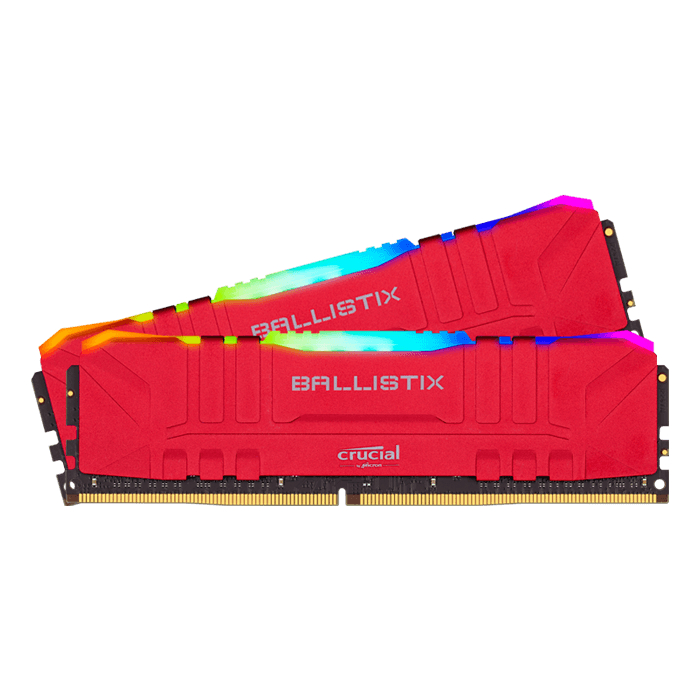 CRUCIAL 64GB Kit (2 x 32GB) Ballistix RGB DDR4 3200MHz Red DIMM ...