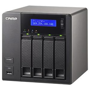 TS-419P+ Turbo NAS Storage System w/ iSCSI, Marvell® 6282 1 6GHz, DDR3  512MB, SATA RAID 6 /4, eSATA /2, GbLAN /2, USB 2 0 /4, 120W PSU