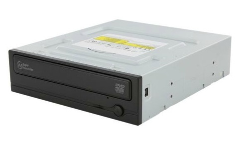 Super-WriteMaster™ SH-224DB Black 24x DVD±R/RW Dual-Layer Burner, SATA, w/o Software, OEM