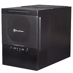 Sugo SG10B Black Mini Tower Case, Slim Slot Loading OD, 4 Slots, mATX, No PSU