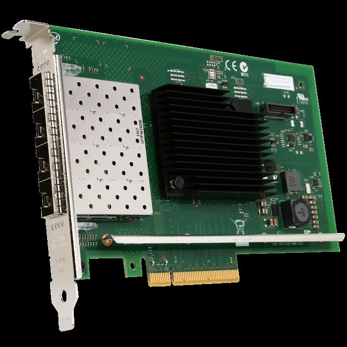 3.0 Intel 10Gbps  PCI-e x8  X710-DA4  Ethernet  Server Adapter  Four SFP Ports