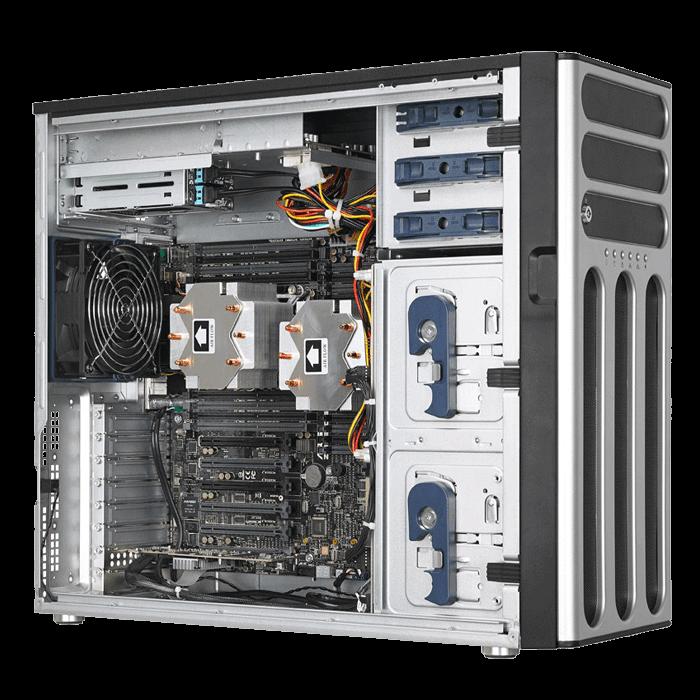 TS700 E8 RS8 5U Rack Tower Server Platform LGA2011 3 2 IntelR C612 DDR4 2400 1TB ECC 16 SATA3 10 M2 VGA IPMI GbLAN 800W Rdt PSU