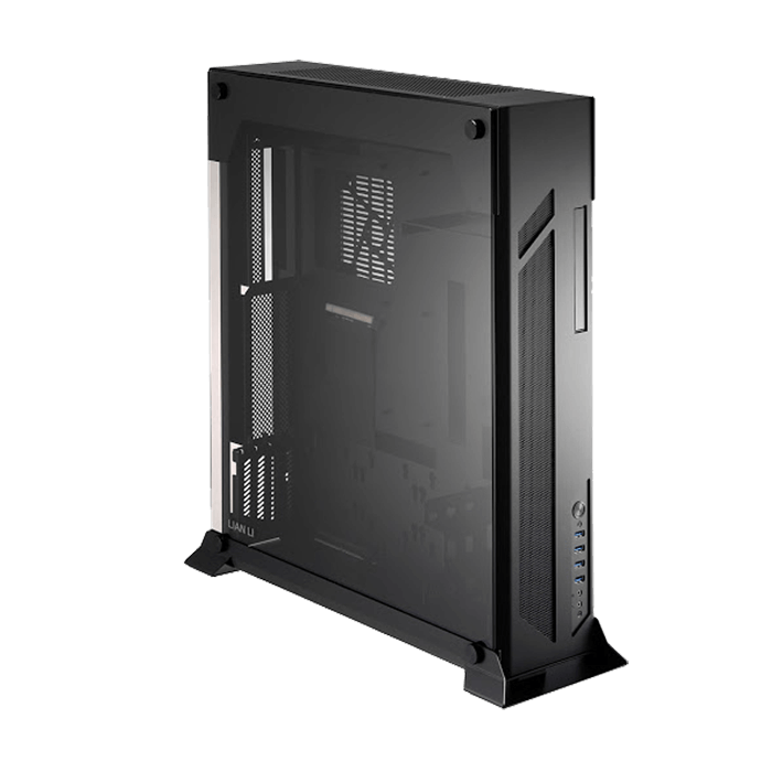 O Series PC-O7SX Tempered Glass, No PSU, ATX, Black, Slim Case