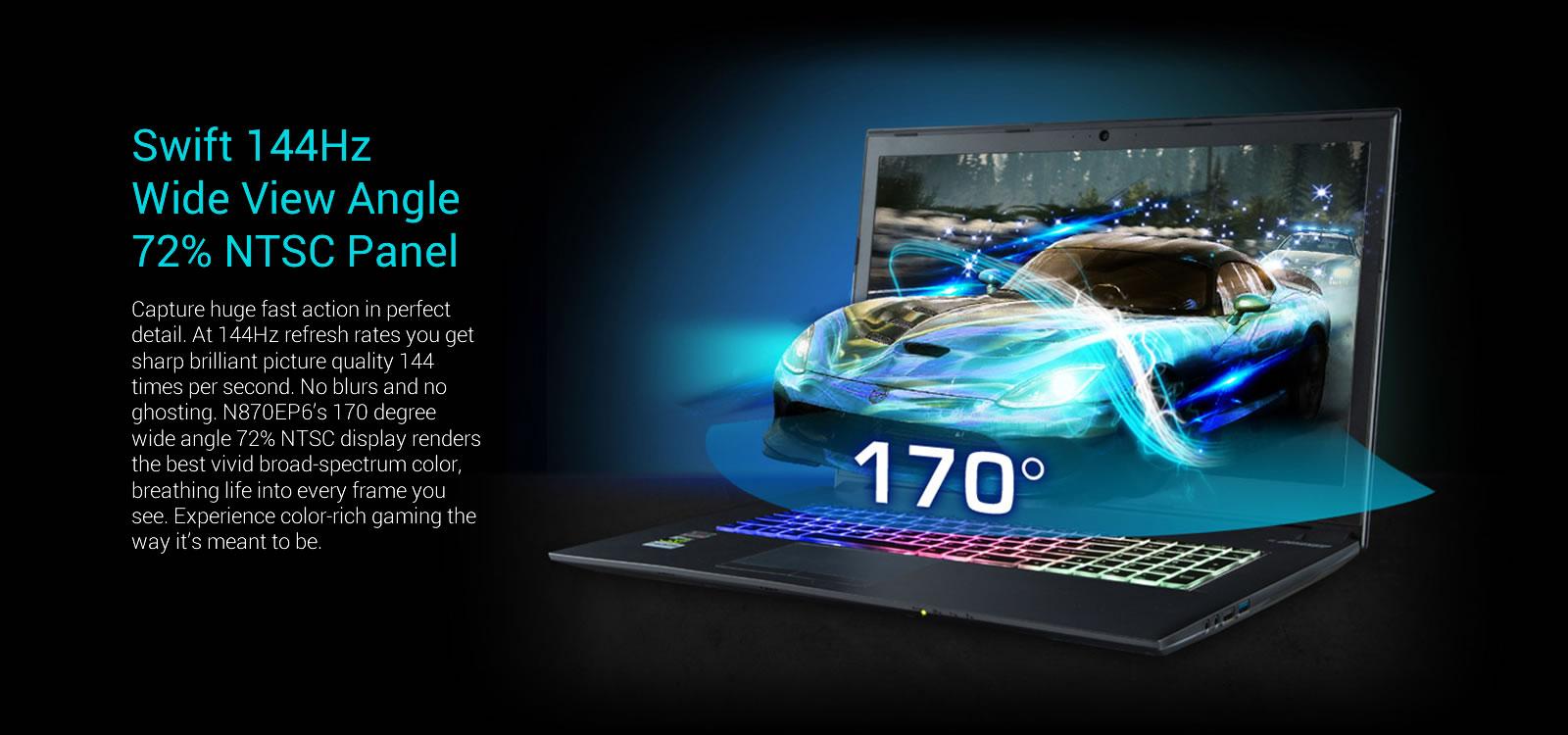 Clevo N870ep6 173 Core I7 Gtx 1060 Gaming Laptop Avadirect Asus Mg279q Monitor 27ampquot 2k Wqhd 2560 X 1440 Ips Up To 144hz Freesync Cpu