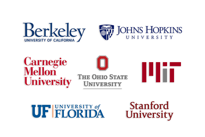 AVADirect Featured Educational Partners Berkley John Hopkins University Carnegie Mellon University The Ohio State University Massachusetts Institute of Technology University of Florieda Stanford University