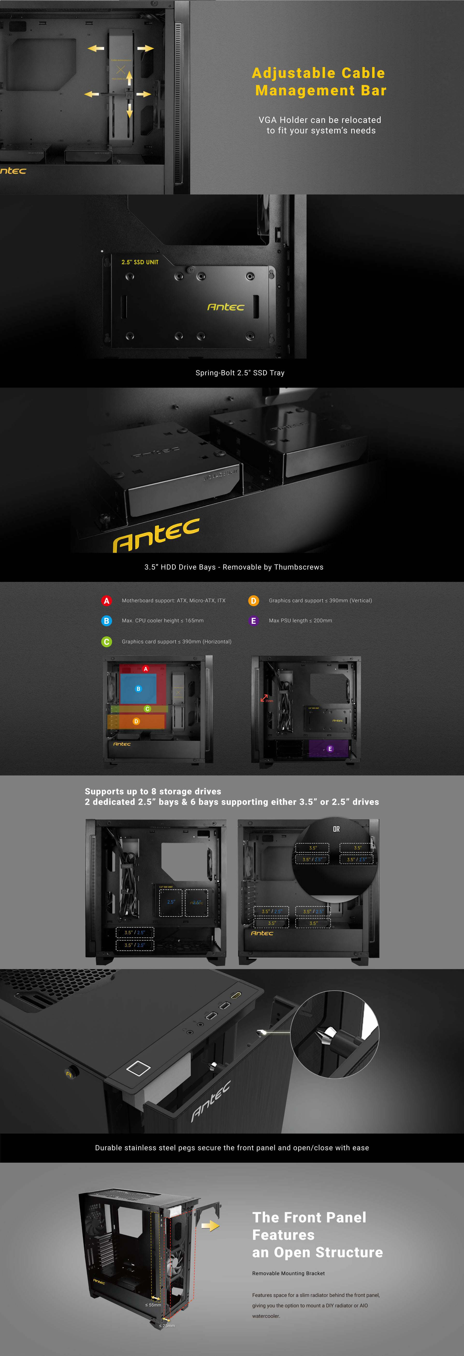 Antec Performance Series P110 Silent ATX Black Mid Tower Case