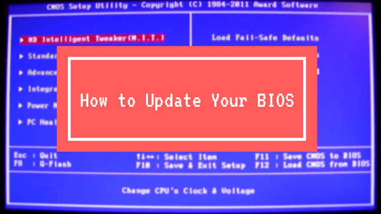 How to Update the BIOS on your Computer or Motherboard
