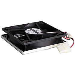 LI121225BL-4 120mm Black Case Fan, 3-Pin Connector, w/ Mounting Hardware and Fan Guard