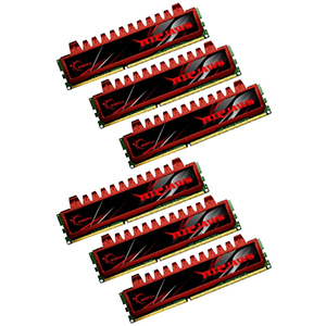 24GB (6 x 4GB) Ripjaws PC3-12800 DDR3 1600MHz CL9 (9-9-9-24) 1.5V SDRAM DIMM, Non-ECC