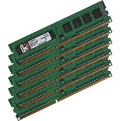 24GB (6 x 4GB) ValueRAM� Dual-Rank PC3-8500 DDR3 1066MHz CL7 SDRAM DIMM, ECC Registered
