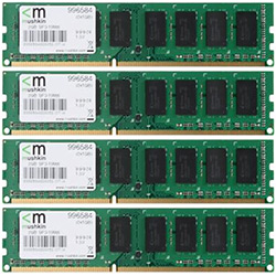 4GB (4 x 1GB) Value PC3-10666 DDR3 1333MHz CL9 (9-9-9-24) 1.5V SDRAM DIMM, Non-ECC