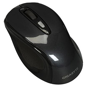 GM-M7600 Wireless Notebook Mouse, Black, 1600dpi, 2.4GHz RF Wireless, 4 Buttons, USB, Retail