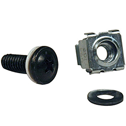 Square Hole Hardware Mounting Kit, M6 1/2