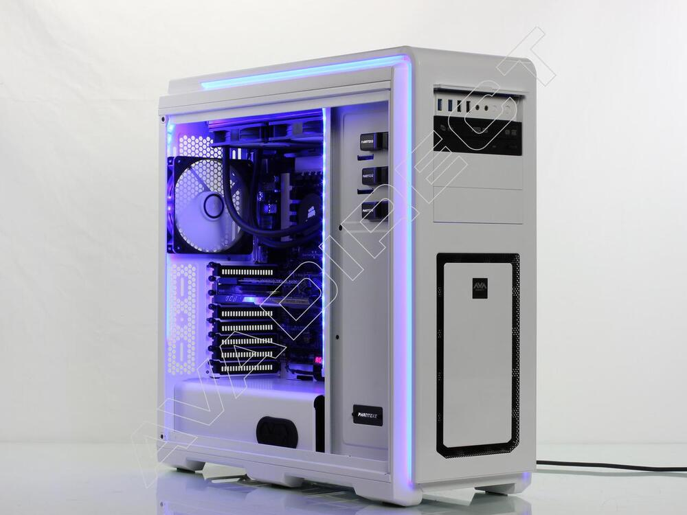 Phanteks Enthoo Luxe White Full Tower Case, ASUS Z97-DELUXE, Intel Core i7-4790K, Kinston 16GB DDR3-1866, EVGA GeForce GTX 780 Ti SuperClocked
