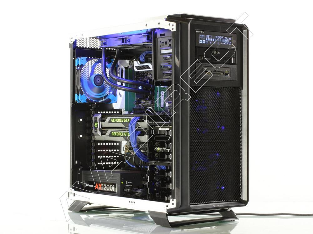 Corsair Graphite 760T Case, ASUS X99-Deluxe, Intel Core i7-5960X Extreme, Crucial 16GB DDR4-2133, 2 x NVIDIA GeForce GTX 980