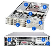 SC823S-R500RC 2U Rack Server Chassis, 6x Hot-Swap SCSI, 500W PSU, Black