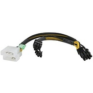 CABLE-MPCIE4628 2x 4-pin Molex Male to 2x 8-pin PCI Express Power Adapter