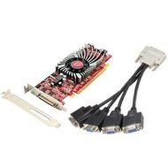 Radeon™ HD 5570 650MHz, 1GB DDR3, PCIe x16, VHDCI to 4x VGA, Full-height/Low-profile, Retail